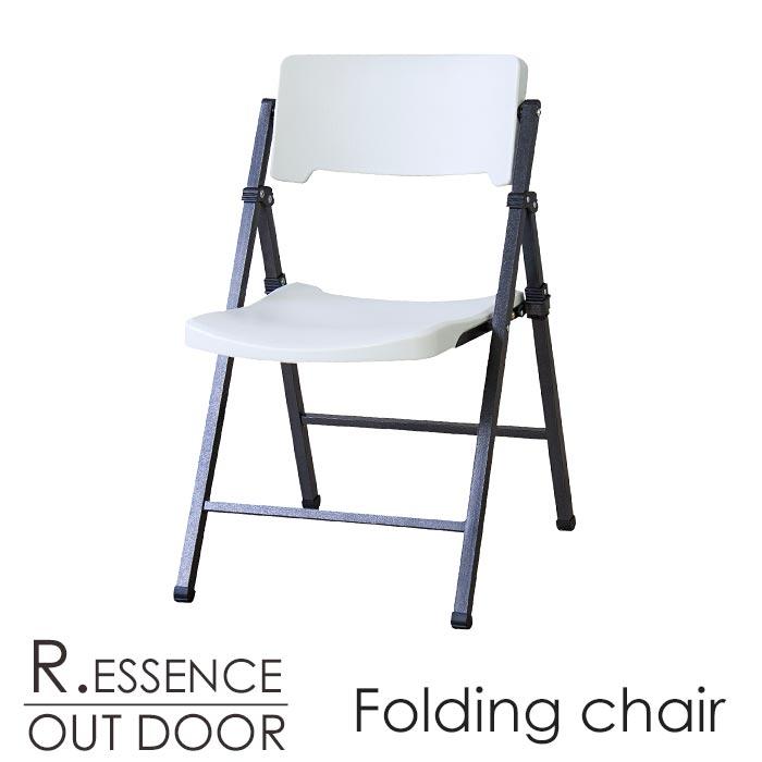 【ポイント5倍】《東谷/LF》R.ESSENCE OUT DOOR フォールディングチェア 折りたたみチェア 一人掛けチェア軽量 折りたたみ式 椅子 可動式背もたれ 野外用 ホワイト アウトドア ガーデン Folding chair pc-116wh