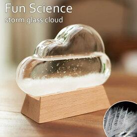 《CTS》333-274 【Fun Science】ストームグラス クラウド気象計 インテリア小物 ディスプレイ小物 天気 サイエンス 科学 結晶 ガラス インテリア 333-274