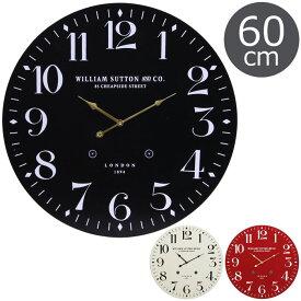 《F-trade》掛時計 LONDON 1894 Φ60cm大型 大判 木目 とけい かわいい 北欧 西海岸 レトロ かけ時計 ナチュラル おしゃれ 新築祝い FUJI 72718 72719 72720
