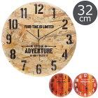 《F-trade》掛時計デクスターΦ32cm木目とけいかわいい北欧西海岸ヴィンテージレトロかけ時計ナチュラルおしゃれ新築祝いFUJI568105681156812