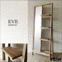 《MOSH》モッシュ EVE イヴ アンティークミラー 幅75cm スタンドミラー 姿見 鏡 収納 アンティーク風 ヴィンテージ モダン オールドパイン 木製 ...