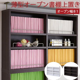 【MEGASALE!対象品】壁面収納キャビネット[上置き]【海外製/お客様組立】《JKP》MEMORIA 棚板が1cmピッチで可動する 薄型オープン上置き幅81 本棚 書棚 FRM-0104