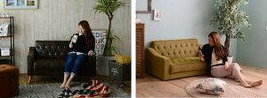 【完成品】《佐藤産業》Ashbyアシュビー二人掛けソファ北欧木製人気おしゃれおすすめモダンシンプルナチュラル西海岸リビングCafeカフェ一人暮らし二人掛け2p2人用sofaソファーコンパクトカウチ新生活アンティーク風ファブリックレザーashby-2p
