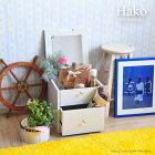 《佐藤産業》Hakoハココスメホワイトボックス組立家具シャビーアンティーク棚キャビネットチェスト箱ha39-39c-wh