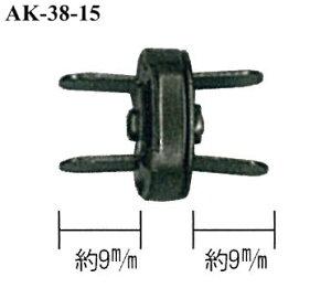 AK-38-15AG 足折れマグネットボタン 厚口 直径14mm 4ヶ入 アンティークゴールド (メール便可) 入園入学 ステイホーム おうち時間 手芸男子 ハロウィン クリスマス