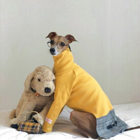 イタグレ 服 IGハイネックグレンチェックワンピース イタリアン・グレイハウンド ドッグウェア 犬 服