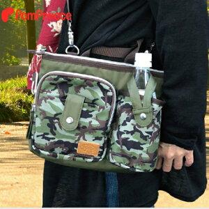 犬用品 お散歩バッグ3WAY カモフラージュ オーナーグッズ 消臭マナーポーチ ショルダータイプ ドッググッズ エチケットバッグ