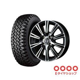 軽トラ タイヤ145R12 6PR ブリヂストン 604V ホイール:ライツレー XS 12×4.0 PCD100/4H +42 JWL-T カラー:プラックメタリック/ポリッシュ サマータイヤ ホイールセット 4本セット