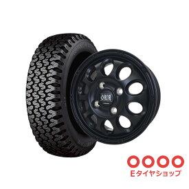 軽トラ タイヤ145R12 6PR ブリヂストン 604V ホイール:ガイアクロス 12×4.0 PCD100/4H +42 JWL-T カラー:マットブラック サマータイヤ ホイールセット 4本セット