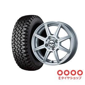 【軽トラック・バン】【タイヤ】 ブリヂストン 604V 145R12 6PR 【ホイール】 アリア 12×3.5 PCD100/4H +44 JWL-T カラー:シルバー