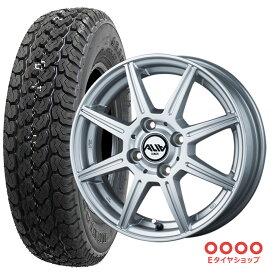 軽トラ タイヤ145R12 6PR ダンロップ グラントレック TG4 ホイール:アリア 12×3.5 PCD100/4H +44 JWL-T カラー:シルバーサマータイヤ ホイール 4本セット