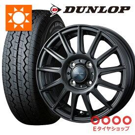 アウトレット品 軽トラ 軽バン タイヤ 145R12 6PR ダンロップ DV-01 ホイール: ヴェルヴァ イゴール 12×4.0 PCD100/4H +42 JWL-T ディープメタル サマータイヤホイール4本セット