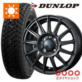 軽トラ タイヤ 145R12 6PR ダンロップ グラントレック TG4 ホイール:ヴェルヴァ イゴール 12×4.0 PCD100/4H +42 JWL-T カラー: ディープメタルサマータイヤ ホイールセット 4本セット