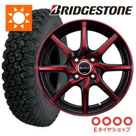 軽トラ タイヤ145R12 6PR ブリヂストン 604V ホイール:ユーロスピード S810 12×4.0 PCD100/4H +43 JWL-T カラー:レッドクリアダークガンメタポリッシュ サマータイヤ ホイールセット 4本セット