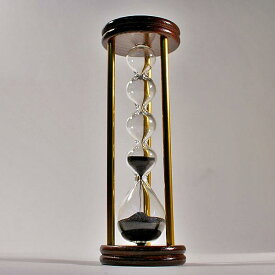 誤差が少ない砂鉄を使用した「職人の手作り砂時計(3分計)フレンチサンドグラス」金子硝子