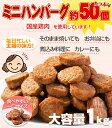 【ポイント20倍】ハンバーグ メガ盛り約50個 一口サイズのミニハンバーグ(国産鶏使用)1kg カレー おでんにも最適なお…