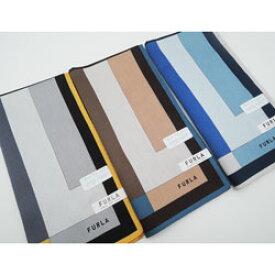 フルラ FURLA ハンカチ メンズ 日本製 切替え柄(50×50cm/2021春)