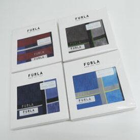 フルラ FURLA ハンカチ メンズ 日本製 色柄おまかせ 箱入り(50×50cm)