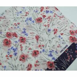 大判ガーゼ ハンカチ レディース JUNKO SHIMADA 小花柄 ピンク 日本製(2018秋冬/58×58cm)
