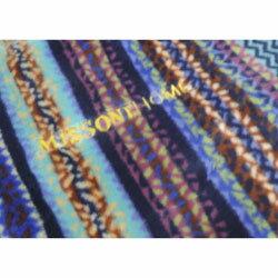 毛布 アクリル ミッソーニ ホーム ストリシア2 ブルー系 (シングル/140×200cm/日本製)