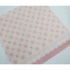 クレイサス CLATHAS ハンカチ レディース フチレース柄 ピンク 日本製(2019春/52×52cm)