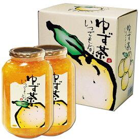 特選 ゆず茶 2本 1100g×2 美容 健康 ビタミンC フルーティ 本場 万能 いいもの通信