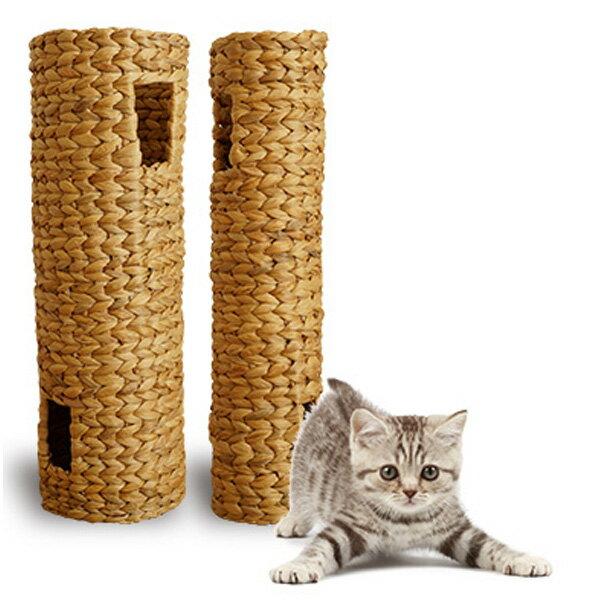 ほっこりトンネル L 猫おもちゃ 猫遊具 ほっこり短いトンネル ねこ ちぐら 天然素材 ウォーターヒヤシンス わら 藁 つぐら 寝床 猫の寝床 手作り 猫 ちぐら ねこグッズ
