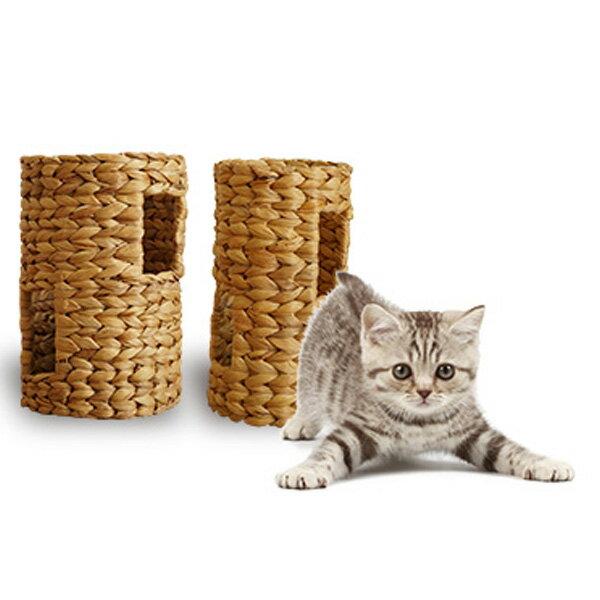 ほっこりトンネル S 猫おもちゃ 猫遊具 ほっこり短いトンネル ねこ ちぐら 天然素材 ウォーターヒヤシンス わら 藁 つぐら 寝床 猫の寝床 手作り 猫 ちぐら ねこグッズ