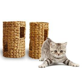 ほっこりトンネル S 猫おもちゃ 猫遊具 ペット おもちゃ ほっこり短いトンネル ねこ ちぐら 天然素材 ウォーターヒヤシンス わら 藁 つぐら 寝床 猫の寝床 手作り 猫 ちぐら ねこグッズ