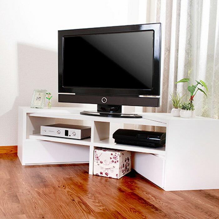 お部屋とTVに合わせて伸縮テレビ台 VEEO ローボード コーナー なリビングボード TV 伸張 木製 日本製 完成家具 送料無料 AV収納(tvボード オーディオボード tvラック テレビラック オーディオラック テレビ)