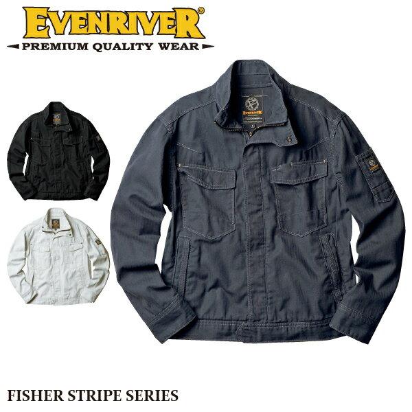 【イーブンリバー】【EVENRIVER】US-1107フィッシャーストライプブルゾン 長袖