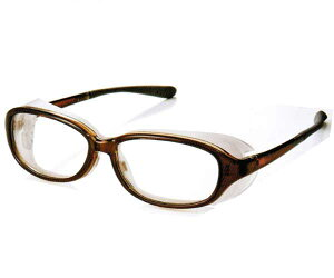 アックス AXE EYES CURE LINE EC 607 BR pm2.5花粉症 対策 めがね メガネ 眼鏡 ドライアイ防塵 対策 保護メガネ ウィルス対策 【 あす楽 】