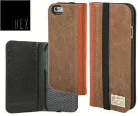 ヘックス HEX ICON WALLET For iPhone6 ・ iPhone6s HX1750 カラー BROWN LETHERアイフォンケース 財布・カード入れ