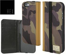 ヘックス HEX ICON WALLET For iPhone6 ・ iPhone6s HX1750 カラー CAMO LETHERアイフォンケース 財布・カード入れ