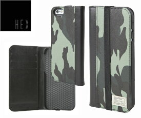ヘックス HEX ICON WALLET For iPhone6 ・ iPhone6s HX1750 カラー MARINE CAMO LETHERアイフォンケース 財布・カード入れ
