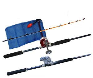 福袋 タコロッドリールセット ( 210cm ・ RIDESHIP200 ・ タコ入れネット ) 【 あす楽 】【 送料無料 ( 北海道 ・ 沖縄除く ) 】たこ専用ロッド タコジグ タコテンヤ網も付き
