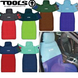 TOOLS ツールス TOOLS HUG CAR SEAT COVER 車用 カーシートカバー 汎用シートカバー 簡単装着エプロンタイプ 収縮生地使用でほとんどの車種に対応