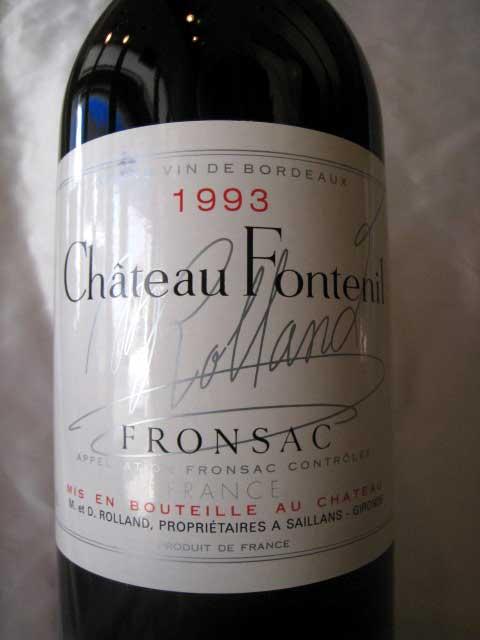 [1993] シャトー・フォントニル 750ml フロンサック Chateau Fontenil
