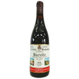 [1979] バローロ・カンヌビ 750ml マルケージ・ディ・バローロ Barolo Cannubi / Marchesi Di Barolo [O-1]