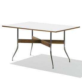 【ポイント5倍!】HermanMiller(ハーマンミラー) 「Nelson Swag Leg Group Dining Table」 長方型/ホワイトラミネートトップ
