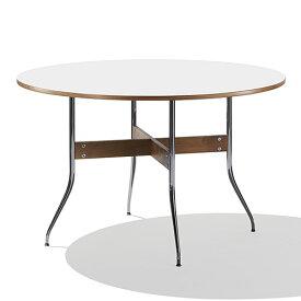 【ポイント5倍!】HermanMiller(ハーマンミラー) 「Nelson Swag Leg Group Dining Table」 丸型/ホワイトラミネートトップ
