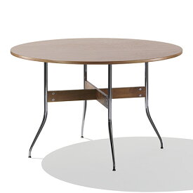 【ポイント5倍!】HermanMiller(ハーマンミラー) 「Nelson Swag Leg Group Dining Table」 丸型/ウォールナットトップ