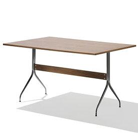【ポイント5倍!】HermanMiller(ハーマンミラー) 「Nelson Swag Leg Group Work Table」 ウォールナットトップ