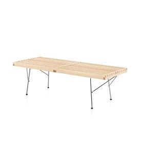 【ポイント5倍!】HermanMiller(ハーマンミラー) 「Nelson Platform Bench(プラットフォーム ベンチ)1220mm」メープル/メタルベース