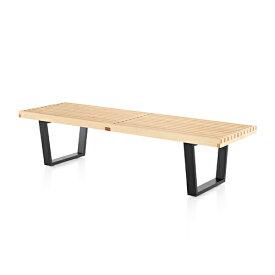【ポイント5倍!】HermanMiller(ハーマンミラー) 「Nelson Platform Bench(プラットフォーム ベンチ)1525mm」メープル/ウッドベース