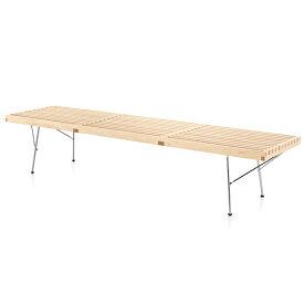 【ポイント5倍!】HermanMiller(ハーマンミラー) 「Nelson Platform Bench(プラットフォーム ベンチ)1830mm」メープル/メタルベース