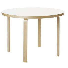 【ポイント10倍!】artek(アルテック)ダイニングテーブル 90A ホワイトラミネート