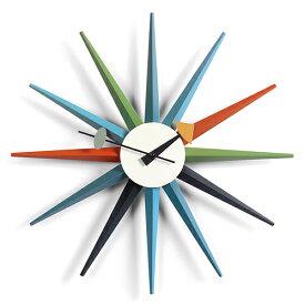 【ポイント10倍!】Vitra(ヴィトラ)「Sunburst Clock (サンバースト クロック)」マルチカラー