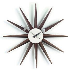 【ポイント10倍!】Vitra(ヴィトラ)「Sunburst Clock (サンバースト クロック)」ウォルナット