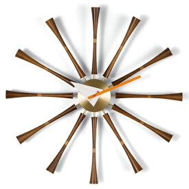 【ポイント10倍!】Vitra(ヴィトラ)「Spindle Clock(スピンドル クロック)」アルミニウム/ソリッドウォルナット